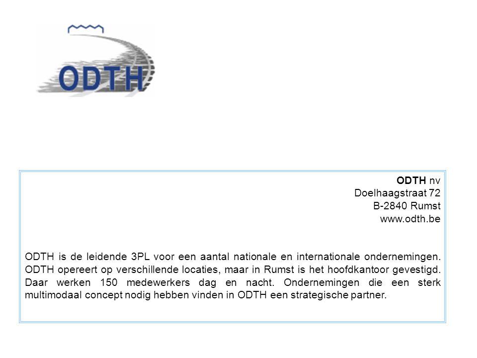 ODTH nv Doelhaagstraat 72 B-2840 Rumst www.odth.be