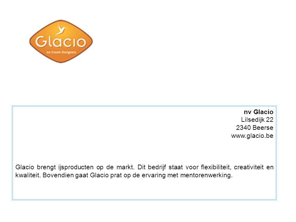 nv Glacio Lilsedijk 22. 2340 Beerse. www.glacio.be.
