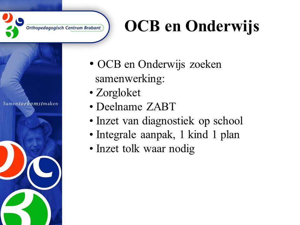 OCB en Onderwijs OCB en Onderwijs zoeken samenwerking: Zorgloket