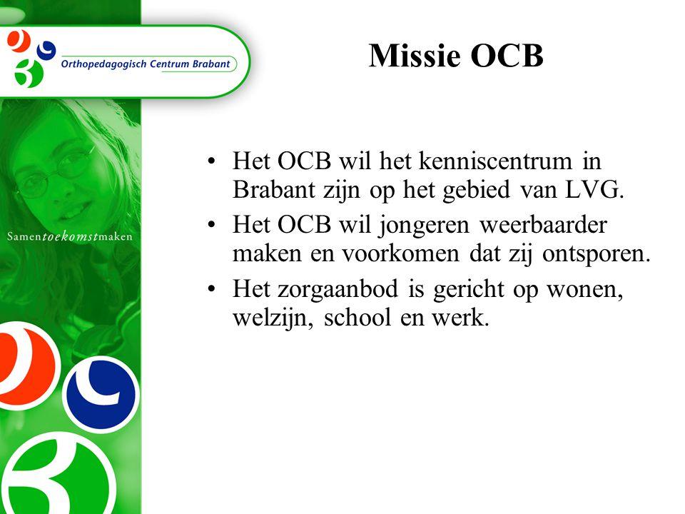 Missie OCB Het OCB wil het kenniscentrum in Brabant zijn op het gebied van LVG.