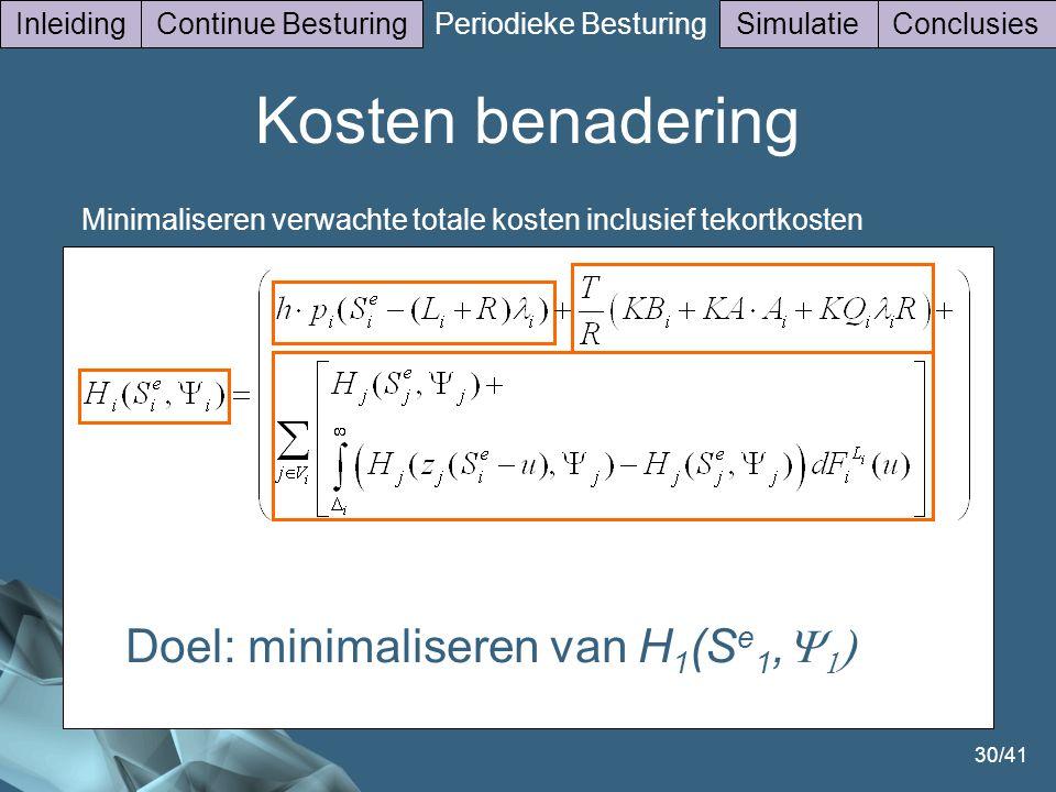 Doel: minimaliseren van H1(Se1,Y1)