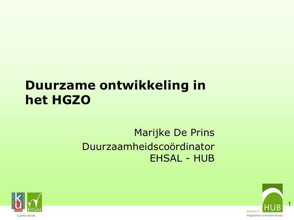 Duurzame ontwikkeling in het HGZO