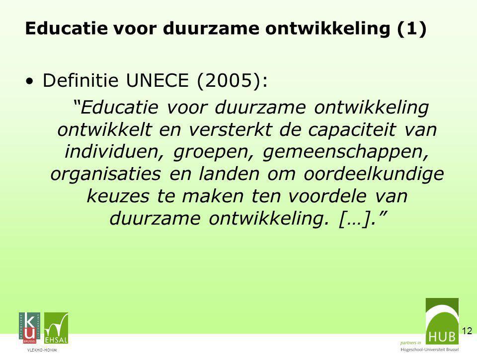 Educatie voor duurzame ontwikkeling (1)