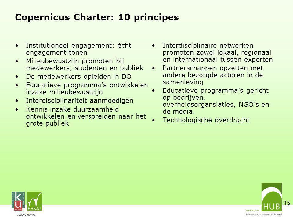 Copernicus Charter: 10 principes