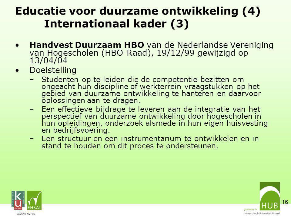 Educatie voor duurzame ontwikkeling (4) Internationaal kader (3)