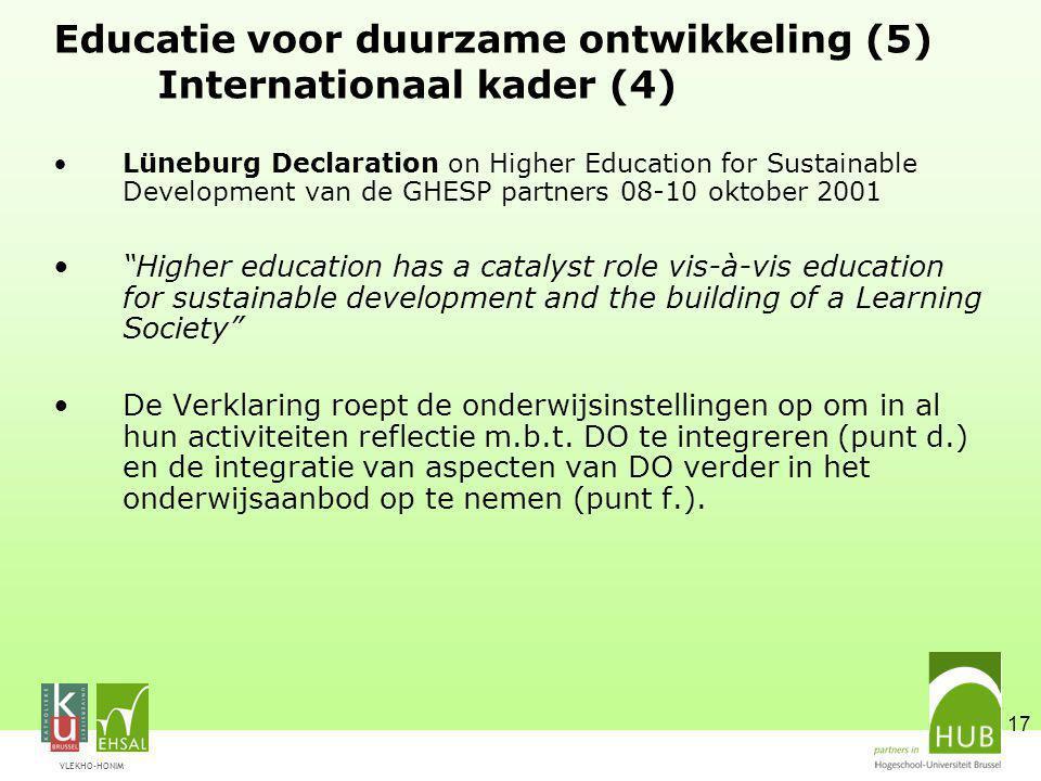 Educatie voor duurzame ontwikkeling (5) Internationaal kader (4)