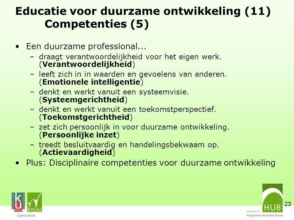 Educatie voor duurzame ontwikkeling (11) Competenties (5)