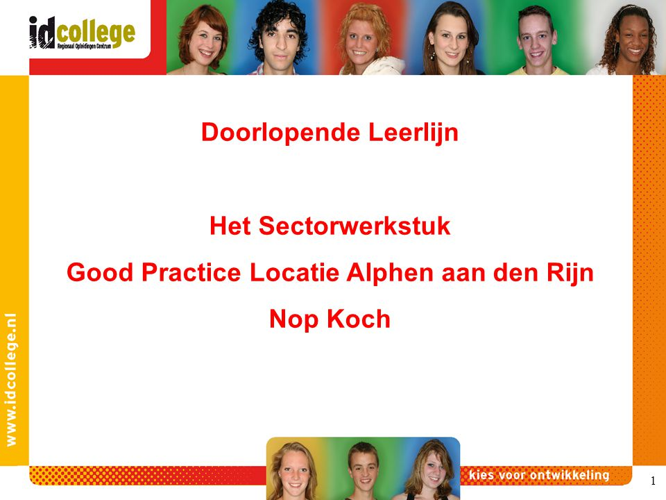 Good Practice Locatie Alphen aan den Rijn