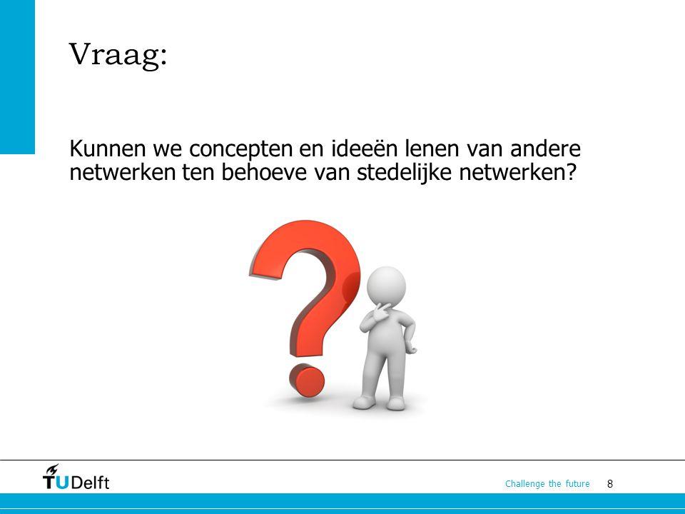 Vraag: Kunnen we concepten en ideeën lenen van andere netwerken ten behoeve van stedelijke netwerken