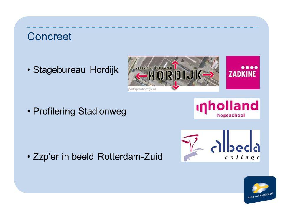 Concreet Stagebureau Hordijk Profilering Stadionweg