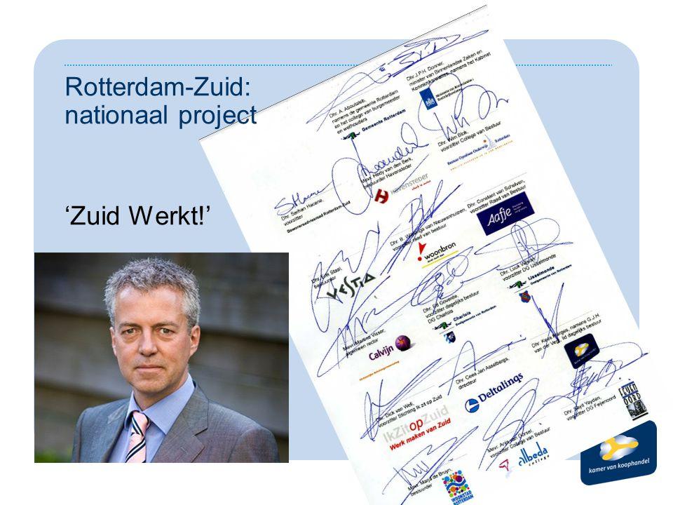 Rotterdam-Zuid: nationaal project 'Zuid Werkt!'