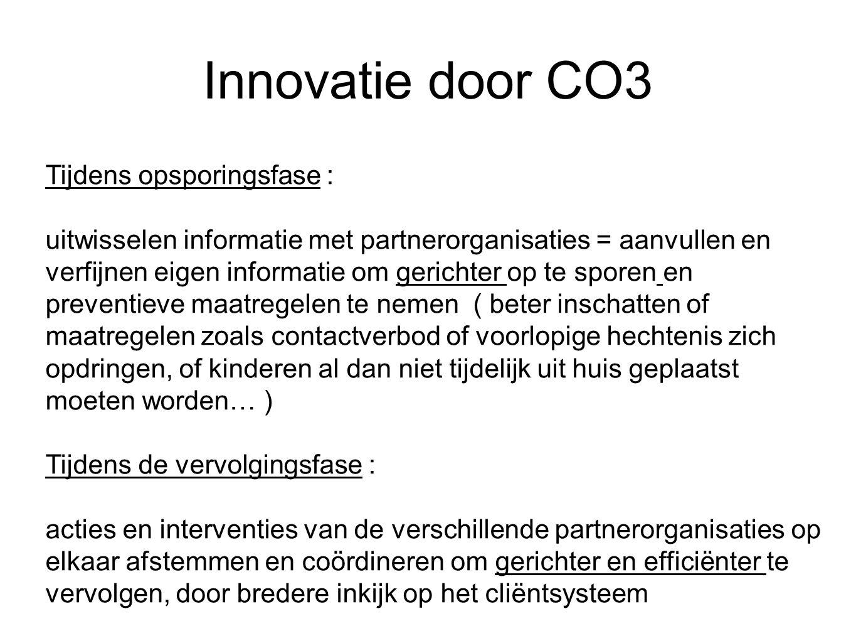 Innovatie door CO3 Tijdens opsporingsfase :