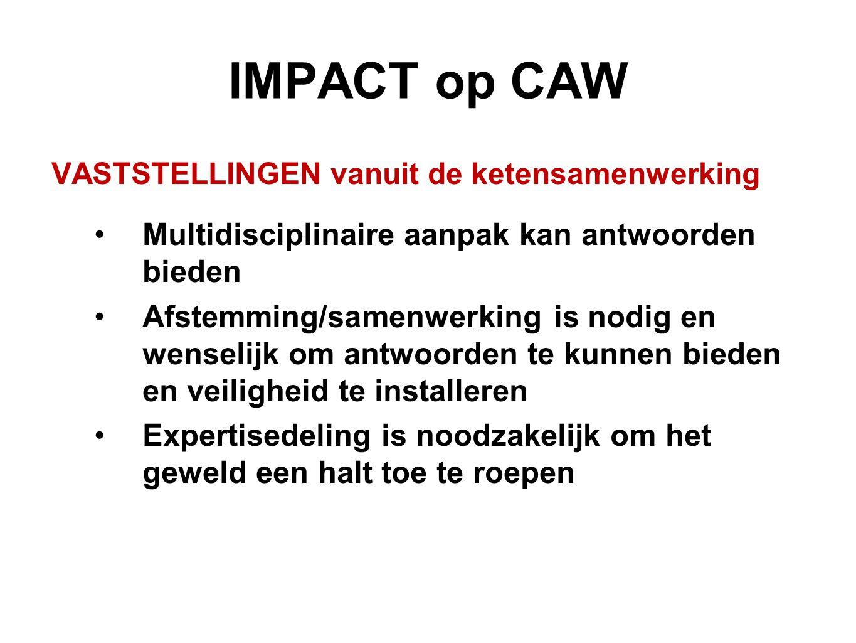 IMPACT op CAW Multidisciplinaire aanpak kan antwoorden bieden
