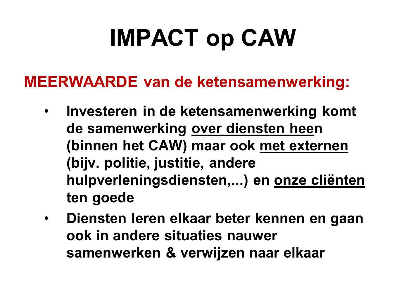 IMPACT op CAW MEERWAARDE van de ketensamenwerking: