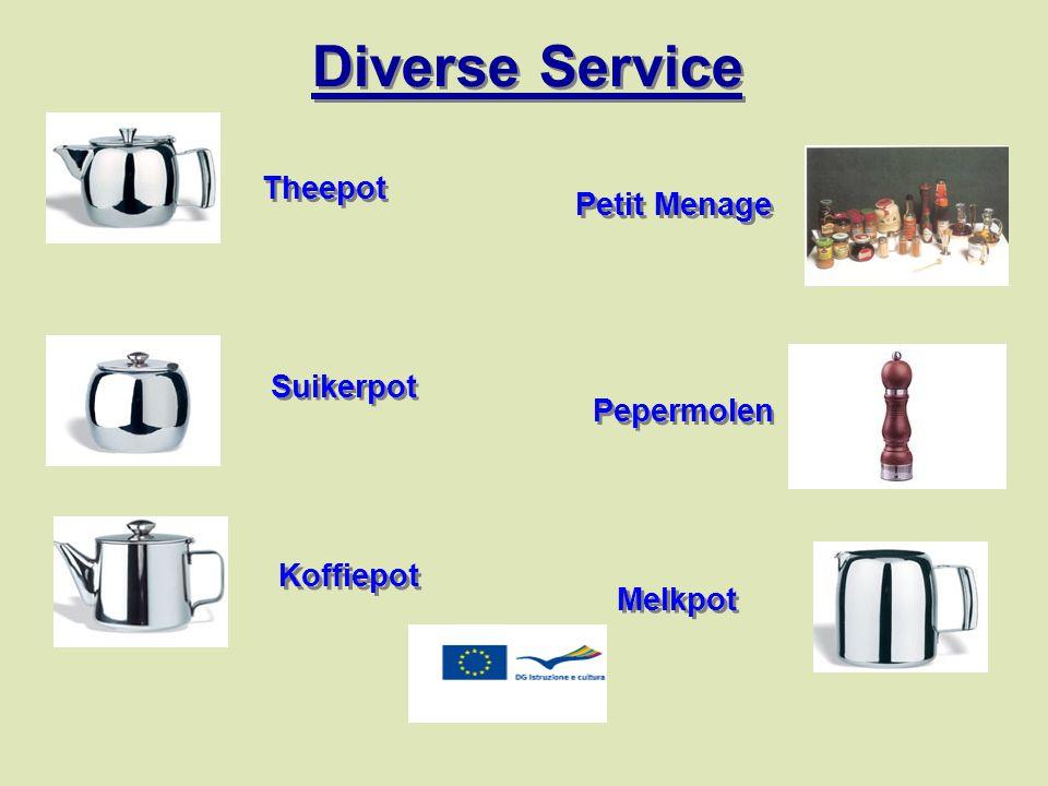 Diverse Service Theepot Petit Menage Suikerpot Pepermolen Koffiepot