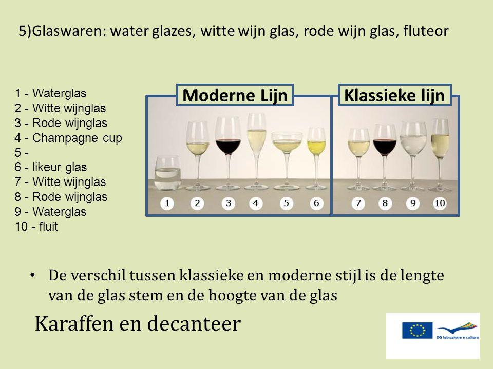 Karaffen en decanteer Moderne Lijn Klassieke lijn