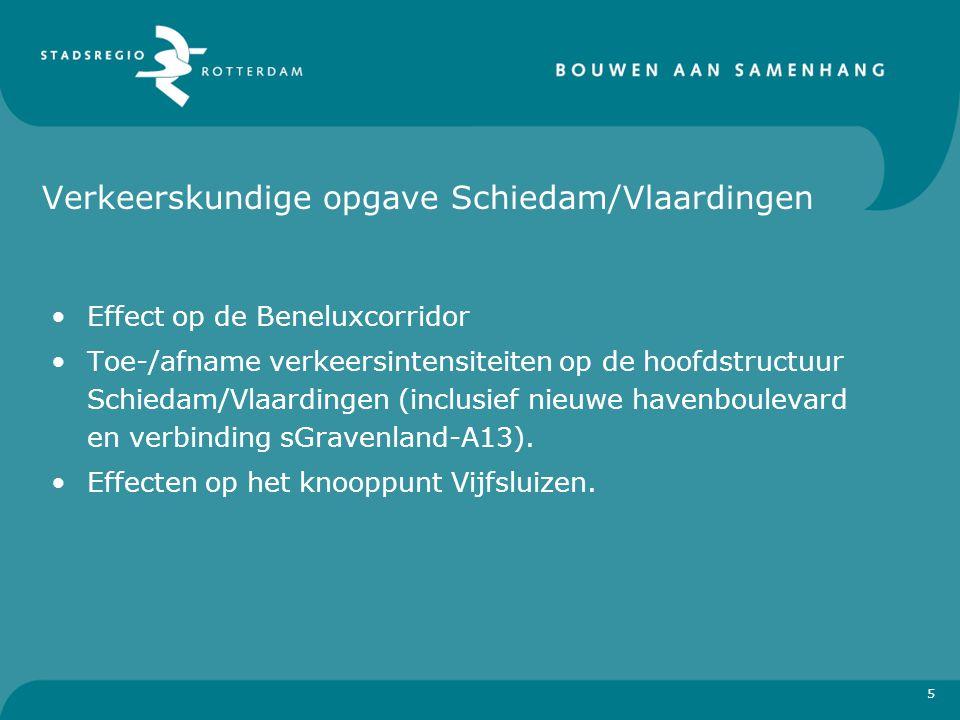 Verkeerskundige opgave Schiedam/Vlaardingen