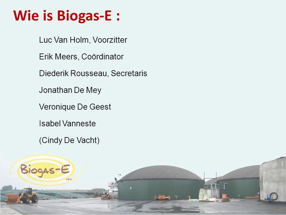 Wie is Biogas-E : Luc Van Holm, Voorzitter Erik Meers, Coördinator