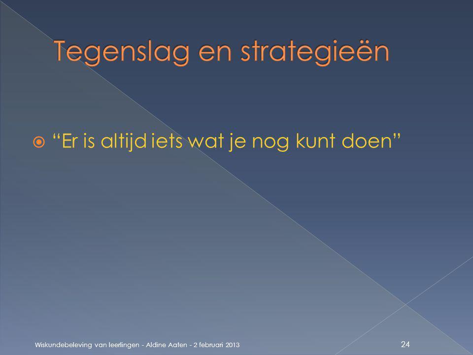 Tegenslag en strategieën