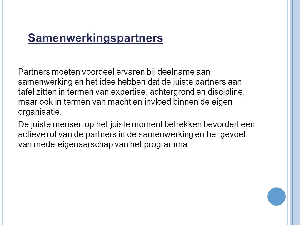 Samenwerkingspartners
