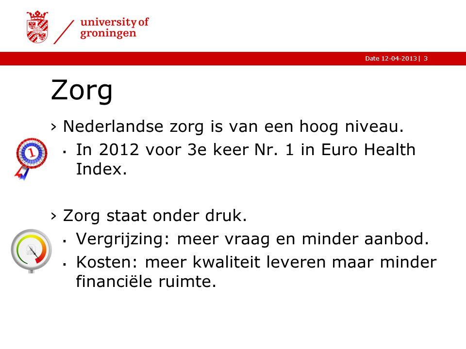 Zorg Nederlandse zorg is van een hoog niveau.