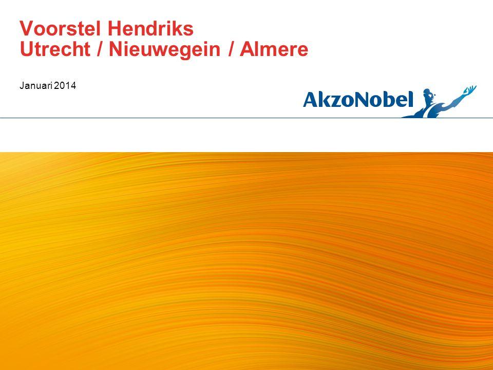 Voorstel Hendriks Utrecht / Nieuwegein / Almere