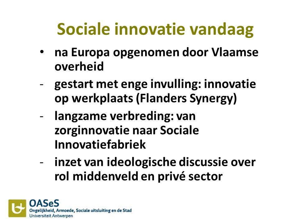 Sociale innovatie vandaag