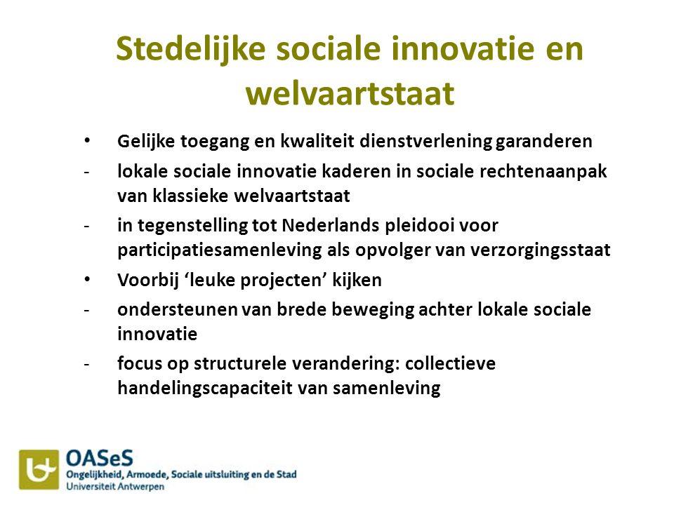 Stedelijke sociale innovatie en welvaartstaat