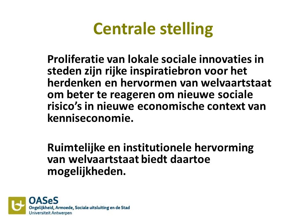Centrale stelling