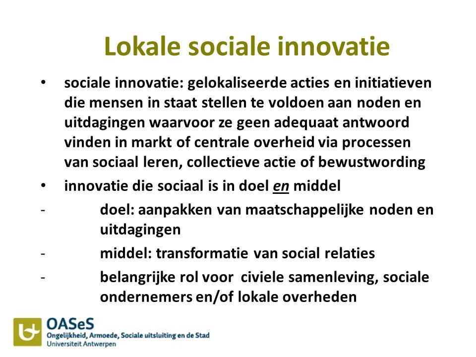 Lokale sociale innovatie