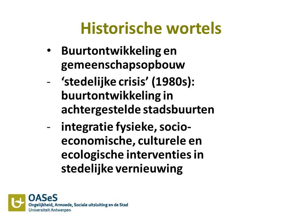 Historische wortels Buurtontwikkeling en gemeenschapsopbouw