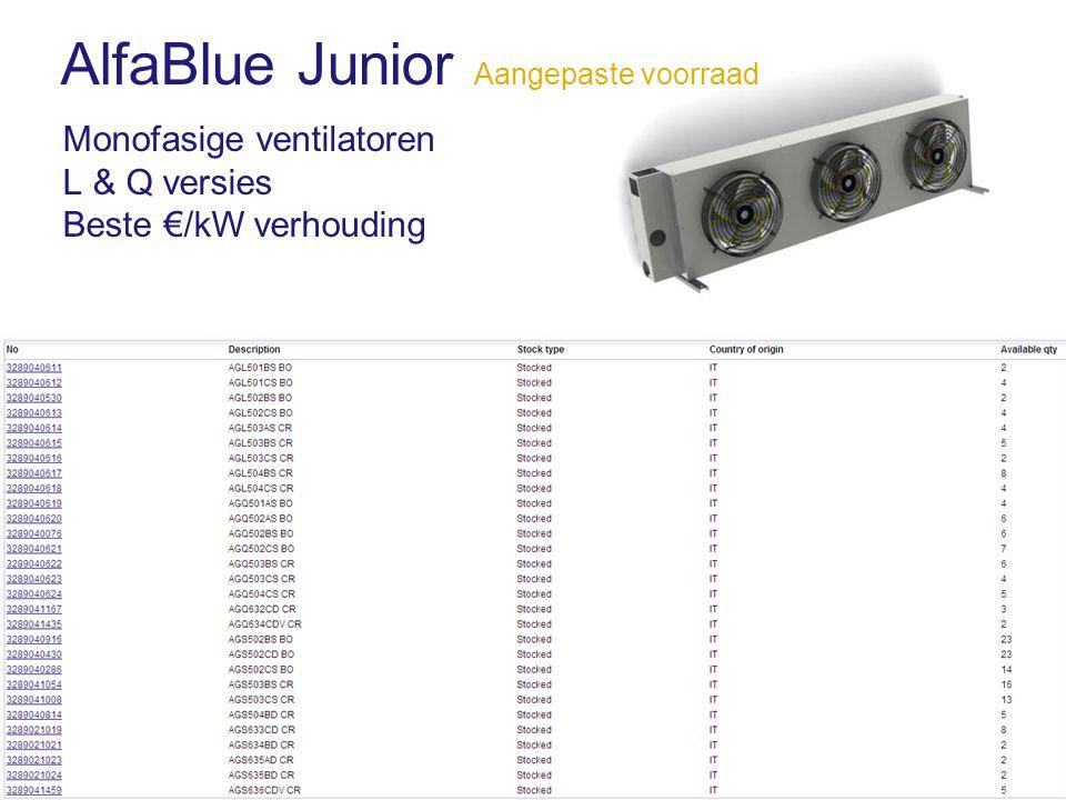 AlfaBlue Junior Aangepaste voorraad