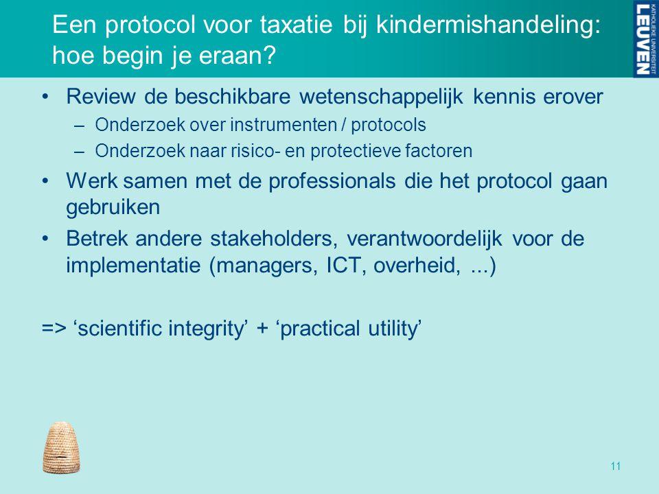 Een protocol voor taxatie bij kindermishandeling: hoe begin je eraan