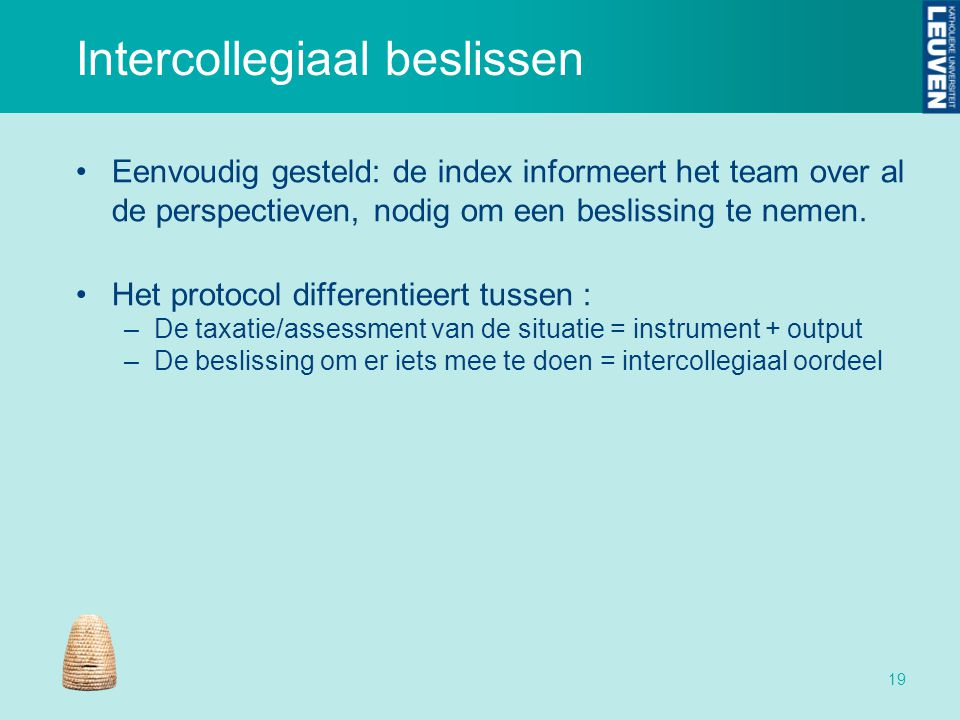 Intercollegiaal beslissen