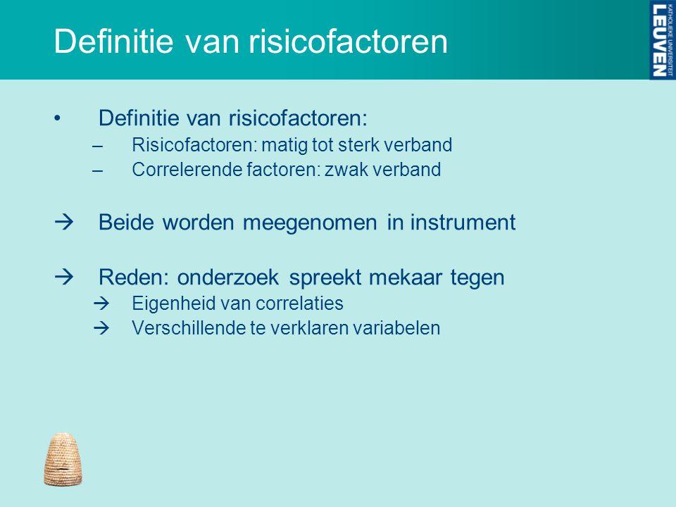 Definitie van risicofactoren