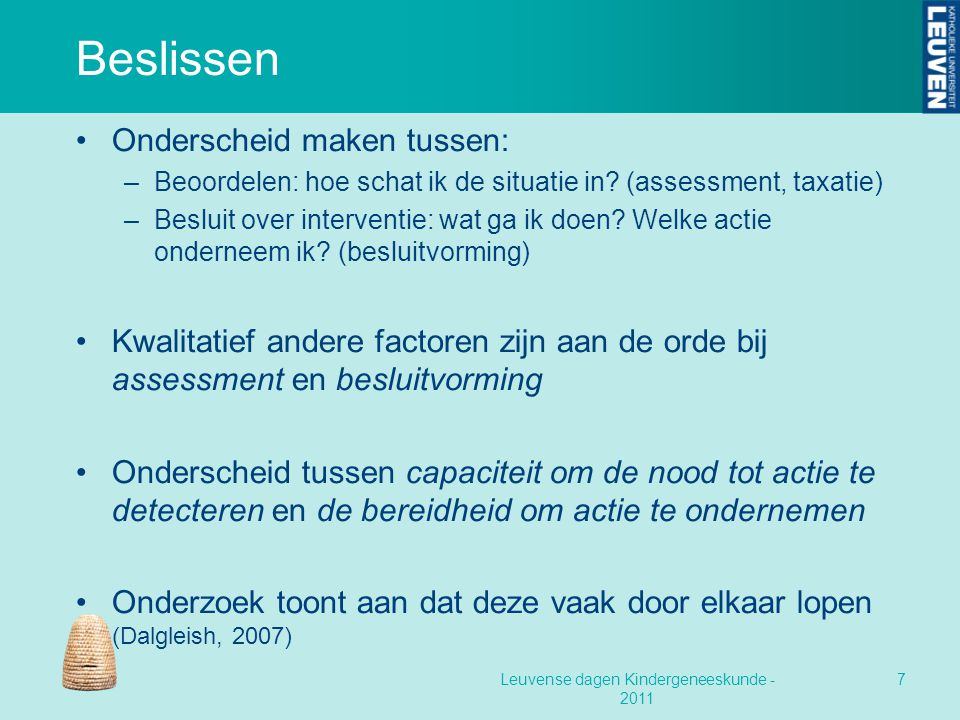 Leuvense dagen Kindergeneeskunde - 2011