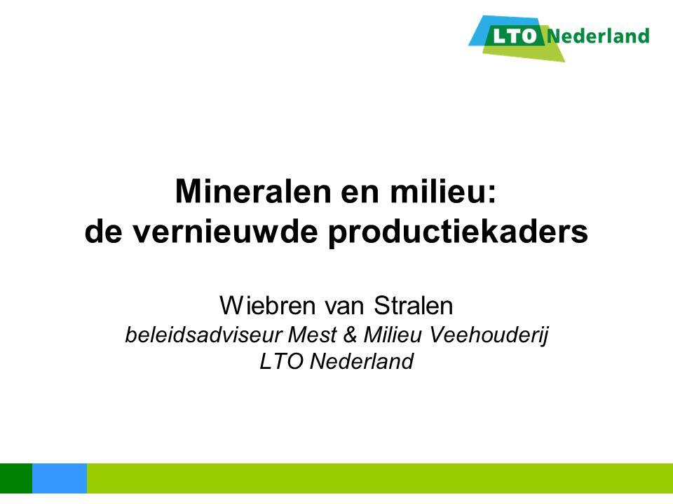 Mineralen en milieu: de vernieuwde productiekaders