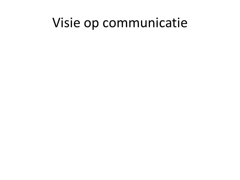 Visie op communicatie