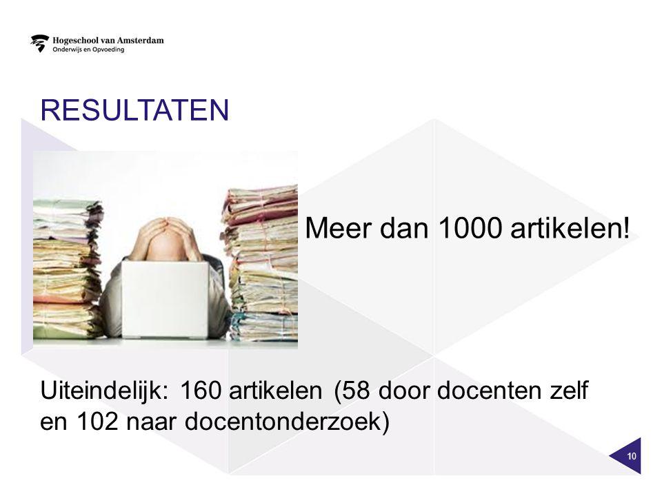Resultaten Meer dan 1000 artikelen!