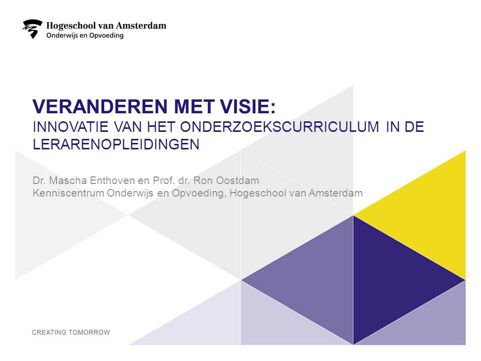 Veranderen met visie: innovatie van het onderzoekscurriculum in de lerarenopleidingen