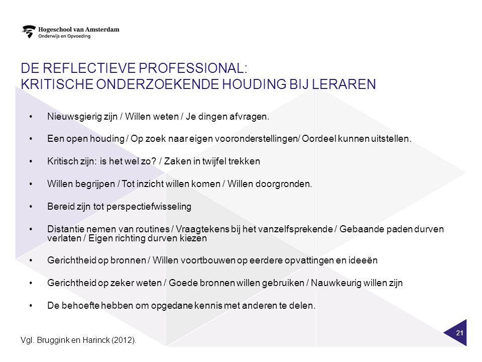 De reflectieve professional: Kritische onderzoekende houding bij leraren