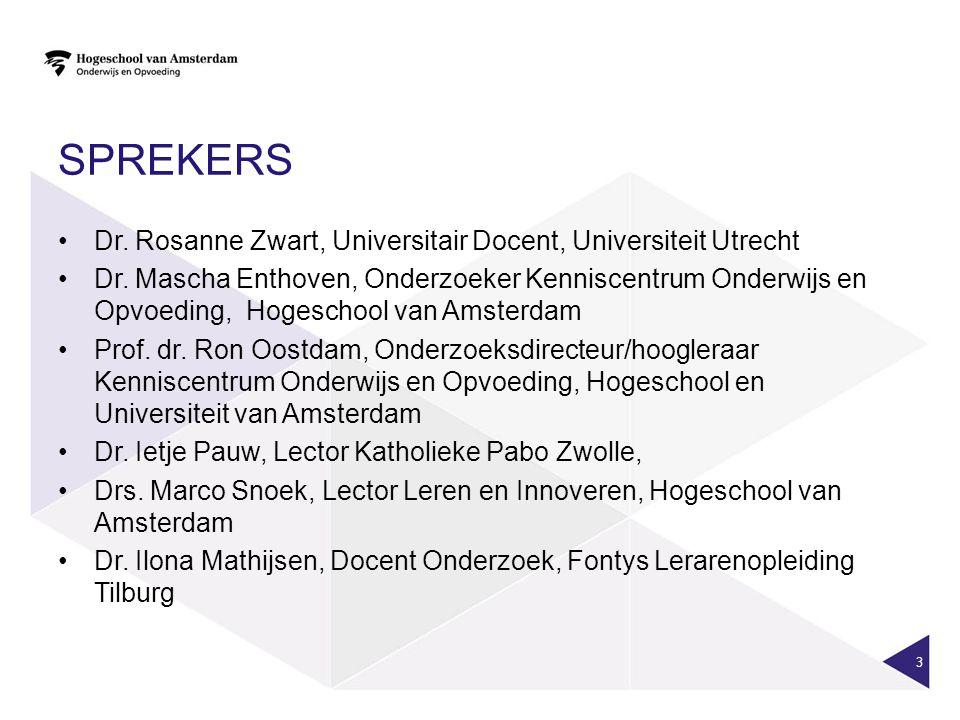 Sprekers Dr. Rosanne Zwart, Universitair Docent, Universiteit Utrecht