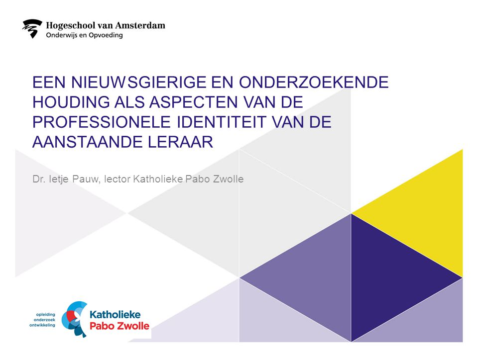 Dr. Ietje Pauw, lector Katholieke Pabo Zwolle