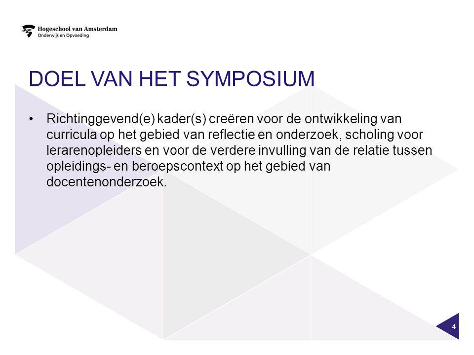 Doel van het symposium