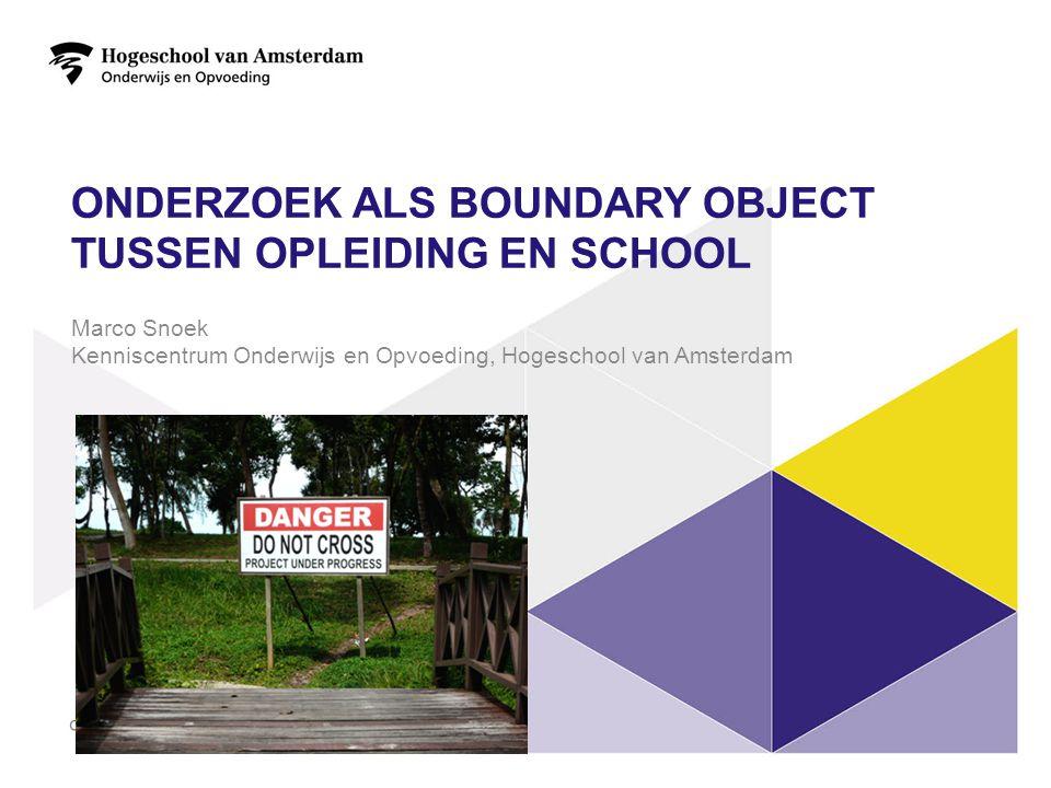 onderzoek als boundary object tussen opleiding en school