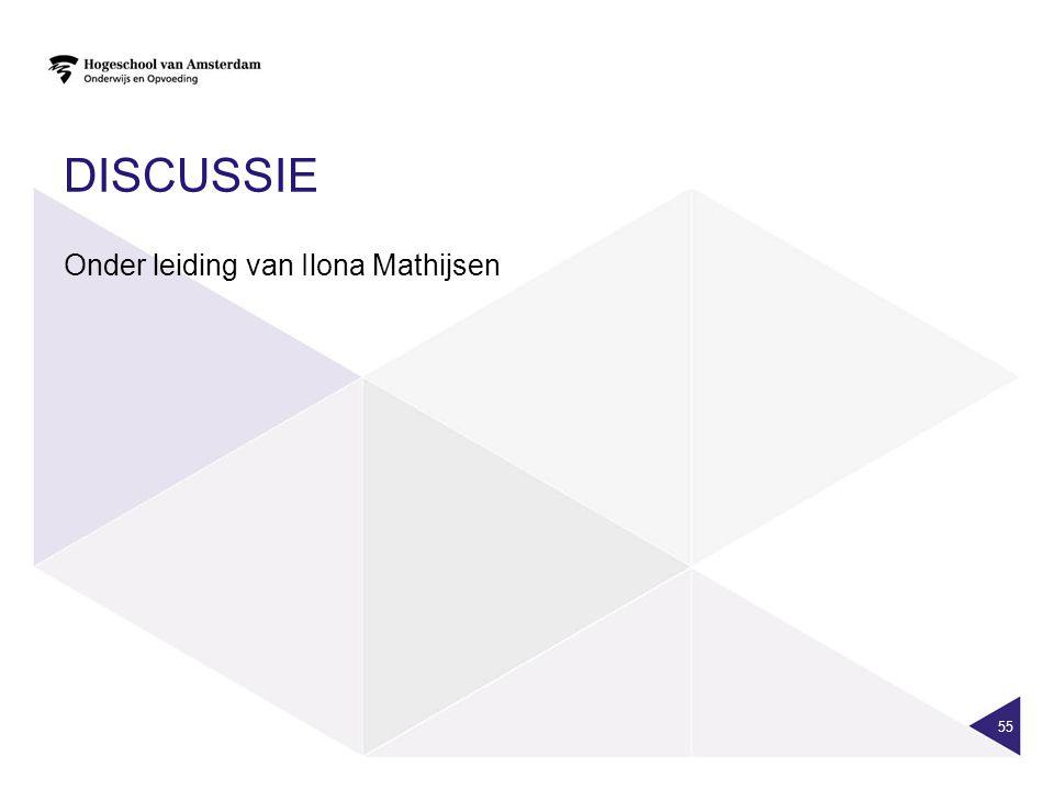 Discussie Onder leiding van Ilona Mathijsen