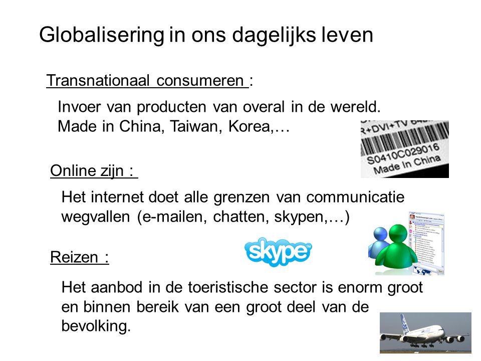 Globalisering in ons dagelijks leven