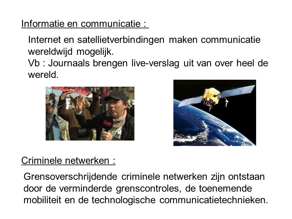 Informatie en communicatie :
