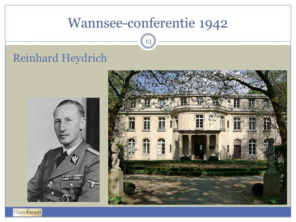 Wannsee-conferentie 1942 Reinhard Heydrich