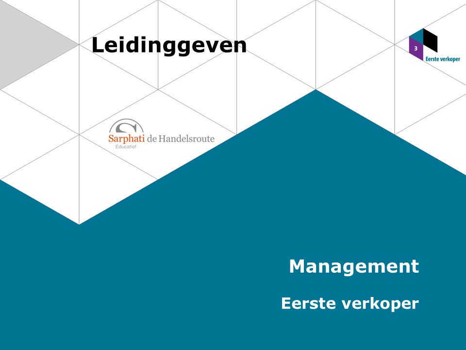 Leidinggeven Management Eerste verkoper